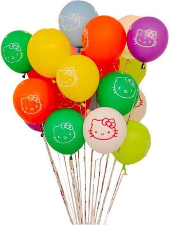 ProductGoods - 10x Hello Kitty Ballonnen Verjaardag - Verjaardag Kinderen - Ballonnen - Ballonnen Verjaardag - Hello Kitty - Kinderfeestje