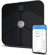 Qumax Slimme Personenweegschaal - Met Lichaamsanalyse - Met Nederlandse App - Zwart