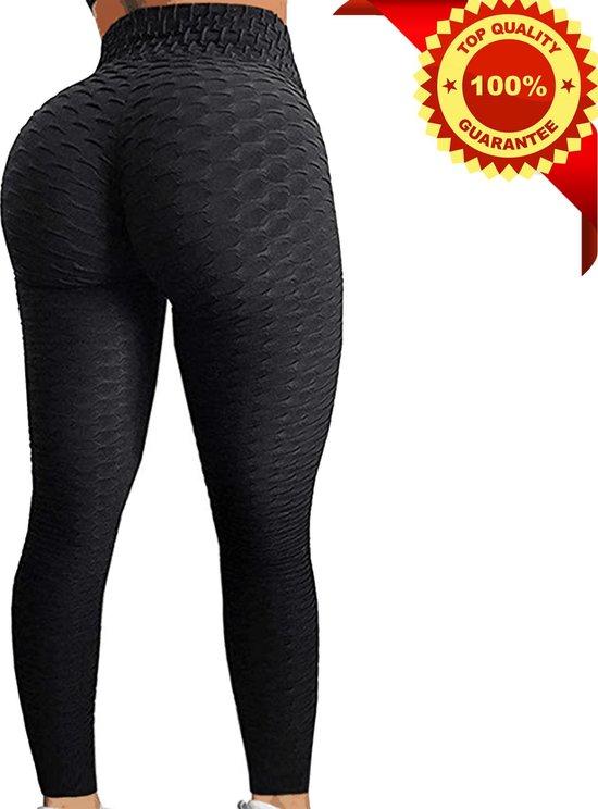 Sportlegging Dames High Waist - Anti Cellulite / Cellulitis - Scrunch Butt - Sportbroek - Sport Legging Voor Fitness / Yoga / Vrije Tijd - Comfortabel - L - Zwart