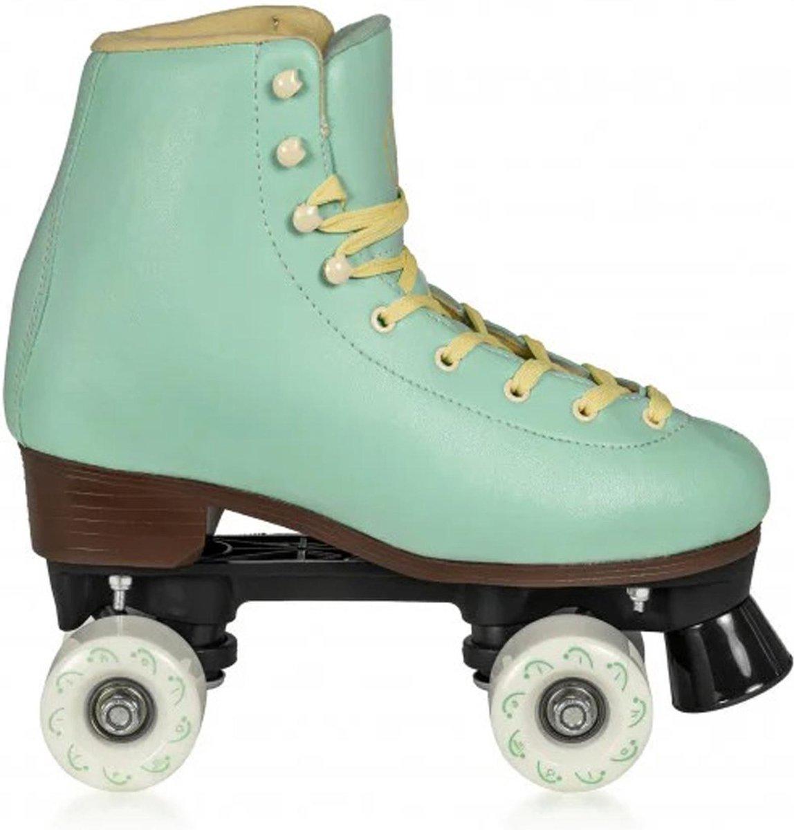 Playlife Rolschaatsen - Maat 34Volwassenen - mint groen/geel