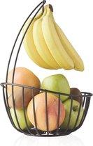 Point-Virgule - Wire - Fruitmand met bananenhouder - Metaal - zwart ø 23cm H 32cm