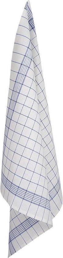 Glasdoeken, 4 Stuks, Wit met Blauwe Lijnen, 70x70cm, Treb Towels