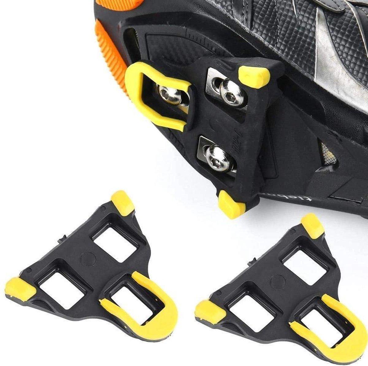 Schoenplaatjes SPD-SL  Geschikt voor Shimano SPD SL pedalen - Geel - Niet origineel