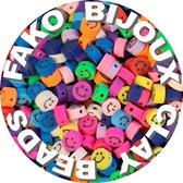 Fako Bijoux® - Klei Kralen Smiley / Emoji Mix - Figuurkralen - Kleikralen - 10mm - 100 Stuks