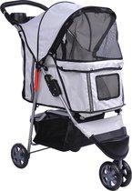 Rexa® Huisdierwagen Buggy voor hond of kat - Buiten plezier met huisdieren - 75 x 45 x 97 cm Trolley hondenwagen hondenbuggy