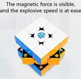 GAN 356 XS speed cube magnetisch - 3x3 kubus - draai puzzel - magic cube