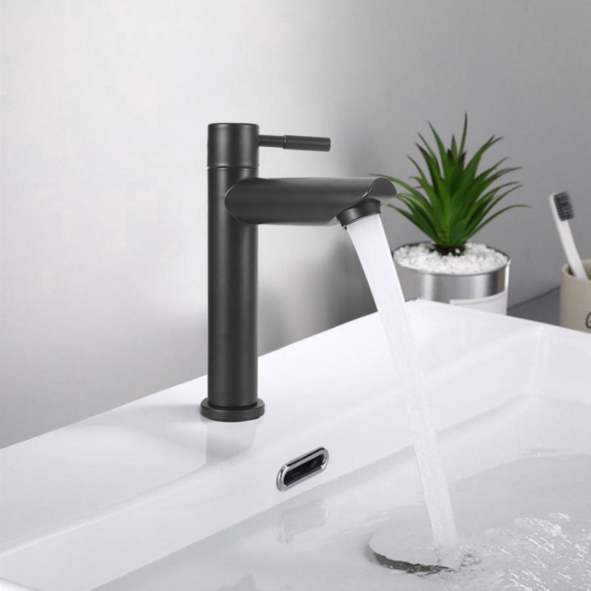 Wastafelkraan zwart toiletkraan kraan koudwaterkraan fonteinkraan kop - badkamer keuken toilet