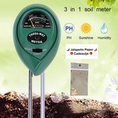 Vochtmeter Planten Bodemvochtigheid 3-in-1 Plantenverzorging - Vochtmeter, Lichtmeter en PH meter voor Grond - Geen Batterij Nodig