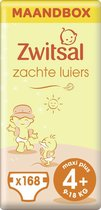 Zwitsal Luiers Maxi Plus Maat 4+ - 168 stuks - Voordeelverpakking