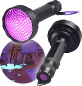 UV Zaklamp - Blacklight - Blacklight Zaklamp met 128 Lampen - Valsgelddetector - Waterdicht & Incl. 6 batterijen