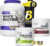 Protein Poeder - MEGADEAL 2 Pack: Whey Protein 2000g + Creatine 300g + Pre-Workout PUMP + Gratis Bulk Shaker -