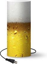 Lamp Bier - Overvol glas bier met connsatie - 70 cm hoog - Ø30 cm - Inclusief LED lamp -