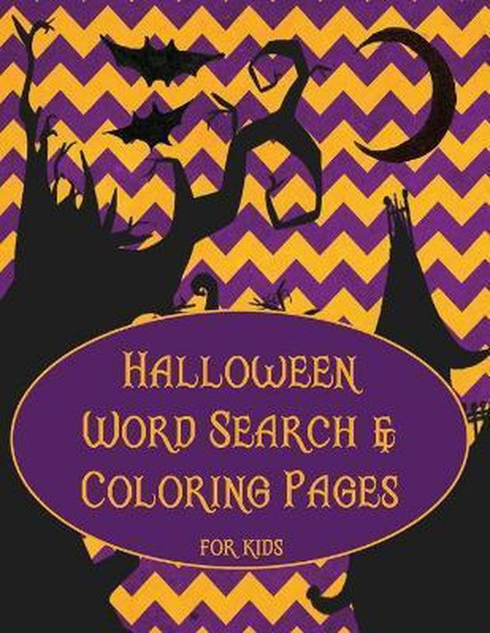 Halloween Word Search and Coloring Pages