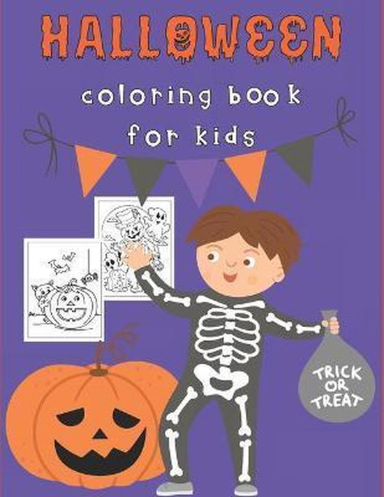 Halloween Coloring Book for Kids: Happy Halloween Activity Book for Children Ages 4-8 - Spooky Characters