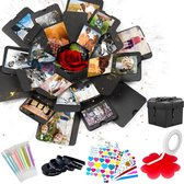 AWEMOZ® Explosion Box - Foto box - Mystery Box - Unieke Geschenkdoos - Explosie box - Foto Doos - Knutselen - Liefdes Cadeau Voor Man En Vrouw - Incl. Kleuren Pennen en Stickervellen