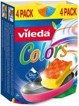 Vileda Schuursponzen Colors 4 stuks