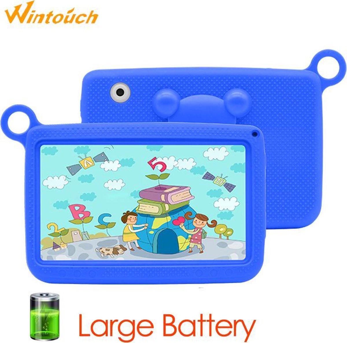 Kindertablet Pro Blauw - Tablet 7 inch - 16 GB opslag - Kinder tablet - Android 8.1 - vanaf 3 jaar - tablets kinderen - kids tablet - Scherp HD beeld - leerzame voor kinderen - Wifi Bluetooth - voor-achter camera - Play store - uitstekende batterij
