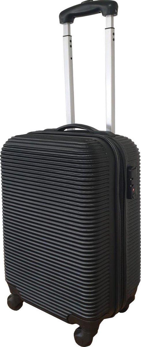 Handbagage TSA Douane Slot Koffer- ABS 28Liter - Handbagage Trolley - Hardcase - 4 Zwenkwielen - Rei