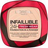 L'Oréal Paris - Infaillible 24H Fresh Wear Foundation in a Powder - 180 Rose Sand - Foundation en poeder in één - 8gr