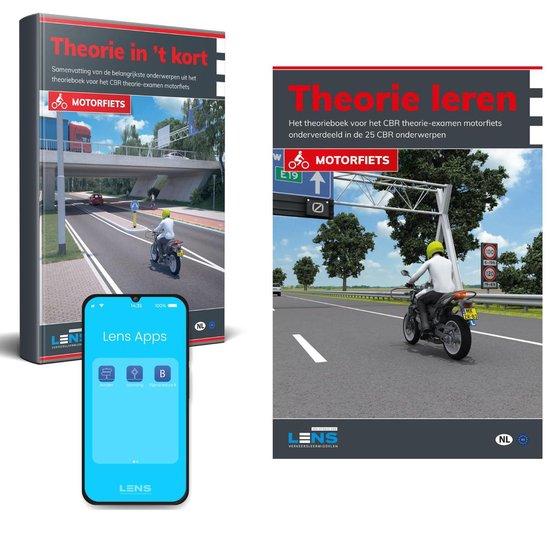 MotorTheorieboek 2021 - Beste Motor Theorieboek - MotorTheorie Boek Rijbewijs A met Samenvatting en Apps - Rijbewijs A Nederland - Theorie Leren Motor 2021 - Lens Media