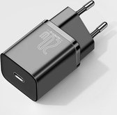 Fast Charger - USB-C Snellader 20 Watt Oplader - Zwart - Apple iPhone 12 Pro Max - Samsung Galaxy S21