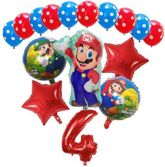 Mario ballonnen - 4 jaar - thema Super Mario