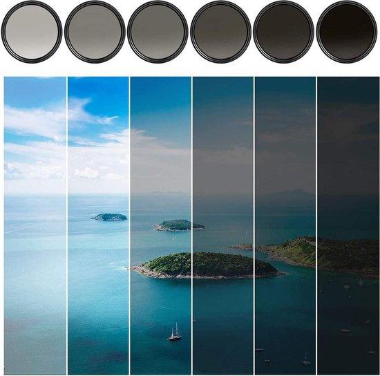 Baodeli 62mm variabele ND fader ND2-ND400 filter grijsfilter