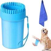 2 in 1 Hondenpoten Reiniger + Handdoek - hondenborstel - hondenpootreiniger - poten reiniger - poot reiniger