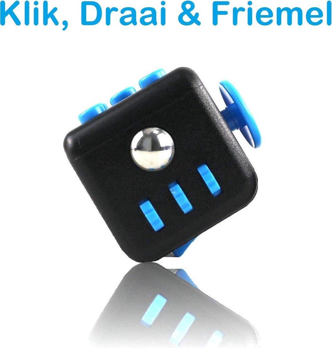 FIDG IT® Fidget Toys Fidget Cube - Pop It - blauw/zwart