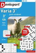 Denksport puzzelboek Groot Variaboek 3* editie 120