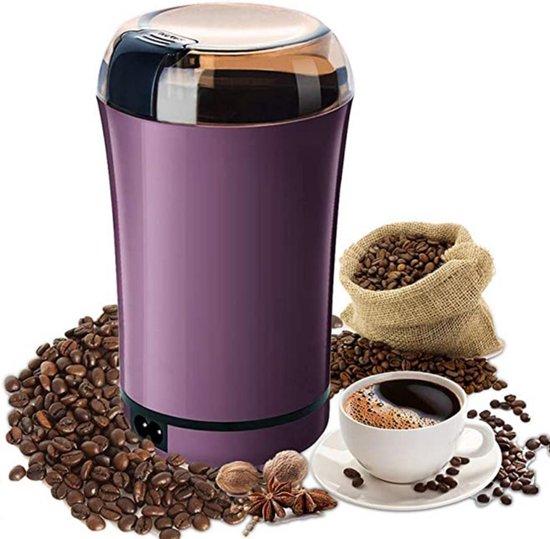 DecoRD Koffiemolen Elektrisch - Werkt ook als Kruidenmixer/Specerijenmolen/Kruidenmaler/SpiceGrinder - Paars