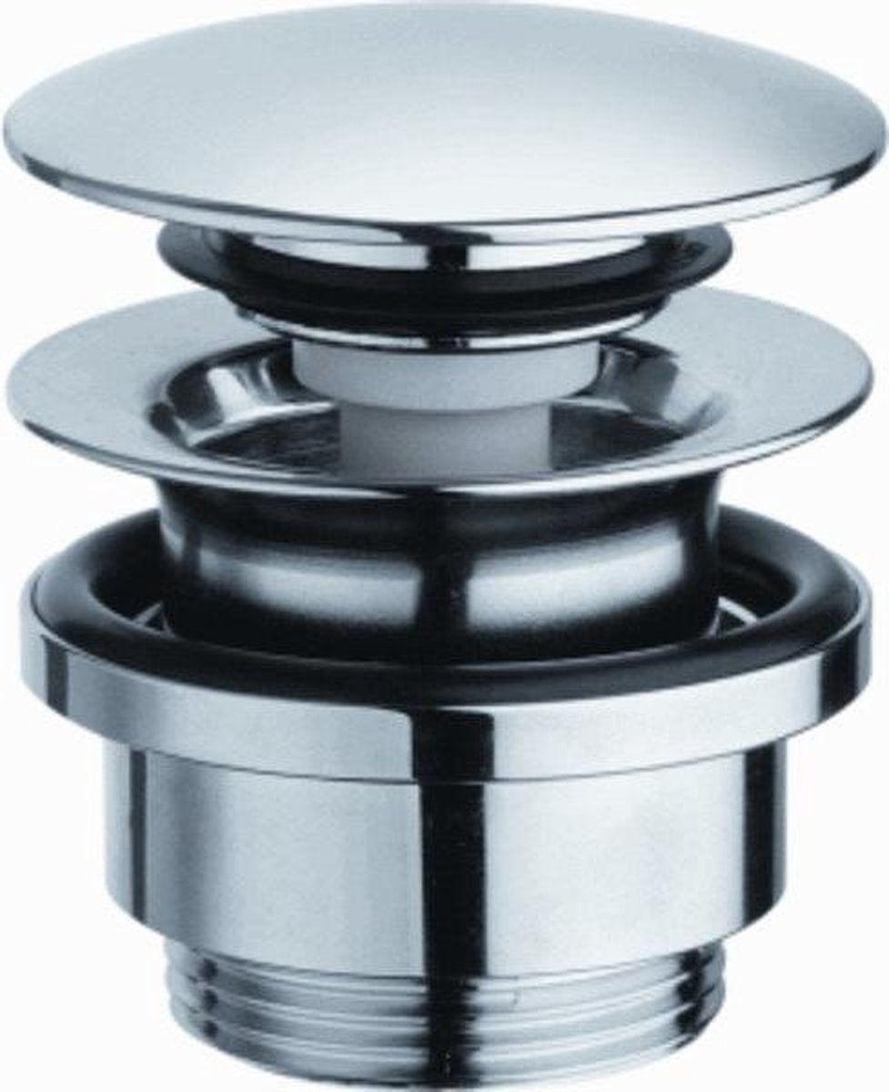 Raminex Up&Down Afvoerplug H6.5cm Messing Chroom