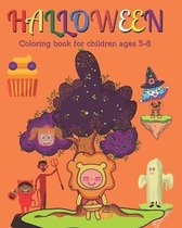 Halloween Coloring book for Children age 5-8