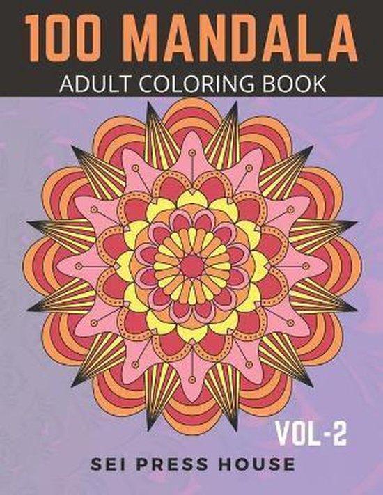 100 Mandala Adult Coloring Book