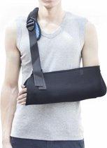 All4Fysio Comfortabele Medische Mitella | Arm Sling | Mitella voor Schouder, Arm, Pols en Hand | Universeel Zwart