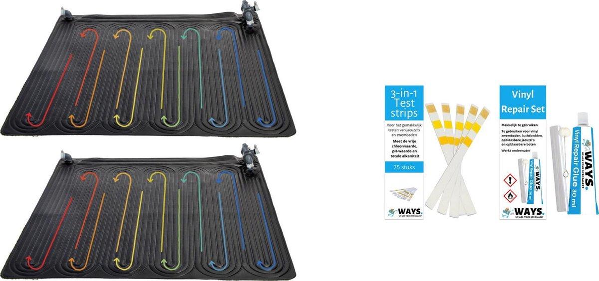 Intex - 2 stuks - Zwembad verwarming - Geschikt voor filterpomp 28602GS / 28604GS / 26644GS & WAYS Reparatieset en Teststrips