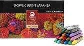 Acryl Stiften 0.7 MM  - 20 Kleuren - Acrylstiften Voor Stenen Schilderen - Acrylverf Stiften - Tekenset - Happy Stones - Acryl Marker