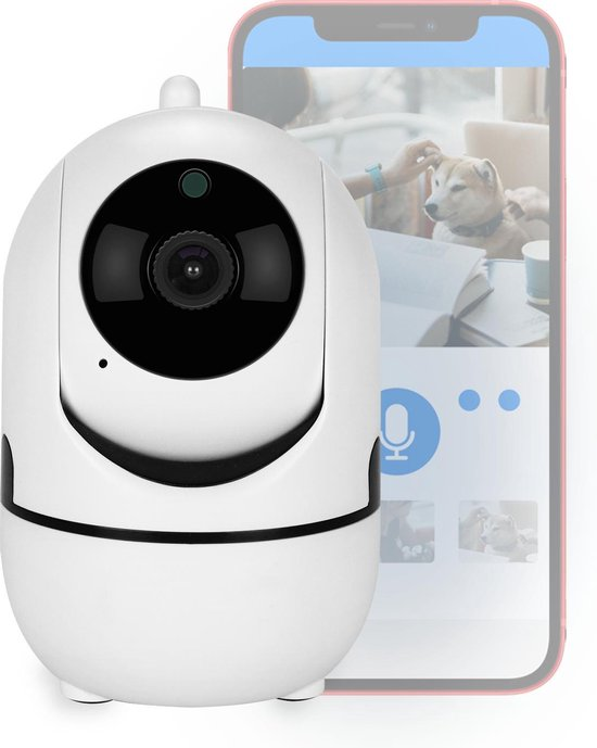 Huisdiercamera - Hondencamera - 2-Weg Audio - WiFi - Beweeg En Geluidsdetectie - Nachtvisie - Draadloos - Hondencamera Beelden Op Telefoon- Hondencamera Met App - Smart Camera - Opslag In Cloud Of SD - IP Camera -