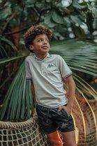 Malelions Junior Striped Polo - White/Black