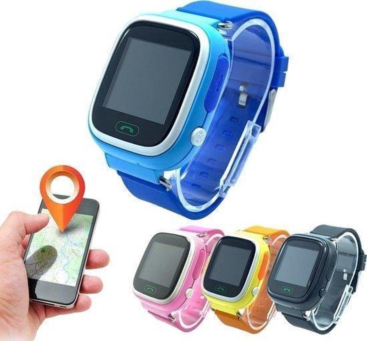 GPS tracker kinderen- Kinder Smartwatch met GPS Bel en SMS functie - gps watch - hoge kwaliteit - model 2020 - black