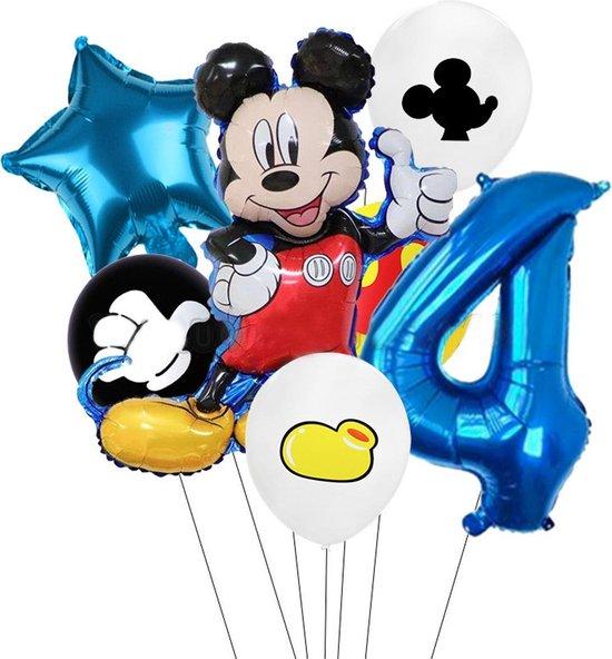 7 stuks ballonnen Mickey Mouse thema - verjaardag - 4 jaar