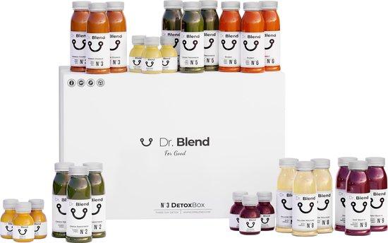 Dr. Blend - DetoxBox N°3 - 3 Dagen Detox Sapkuur - Groente & Fruit - 27 Verse & Pure Sapjes