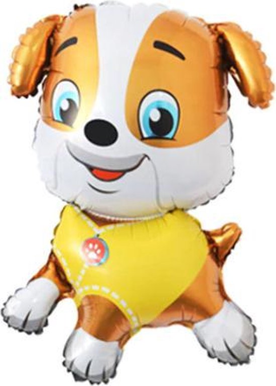 Rubble ballon - 70x47cm - Paw Patrol - Paw Patrol Marshall -  Folie Ballon - Themaverjaardag - Kinderfeest - Versiering - Ballonnen - Helium ballon - Leeg