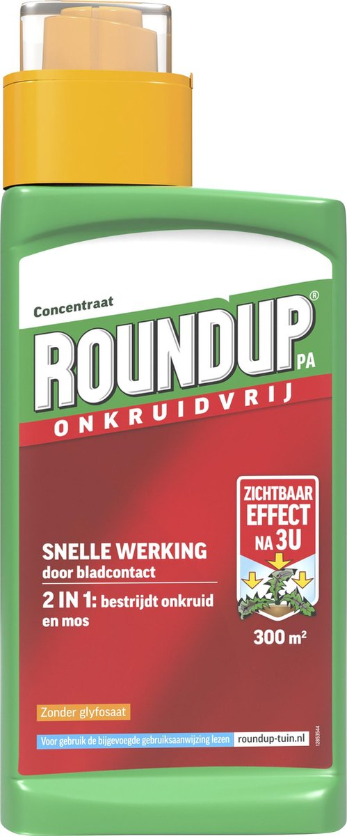 RoundUp Natural Onkruidvrij Onkruidverwijderaar - Zonder Glyfosaat - 540ml voor 300m