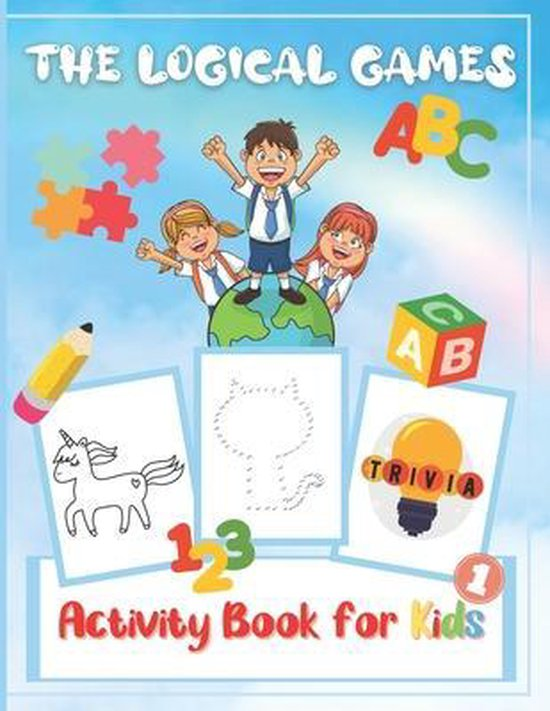 The Logical Games Activity Book for Kids: Puzzle Books Spot the Difference, Word Search, Dot to Dot, Trivia and Coloring Pages with Caticorn, Unicorn