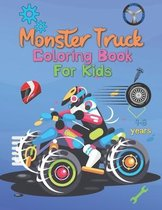 Monster Truck Coloring Book For Kids 4-8 Years