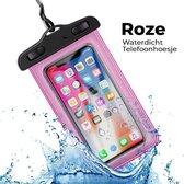Mobstore Waterdichte Telefoonhoesje Roze - Volledig waterbestendige Telefoon hoes - Onderwater hoesje telefoon - Waterproof Case - Pouch - Bag - Geschikt voor alle  Smartphones - Ook voor paspoort & betaalpassen - Waterdichte telefoonhoesjes