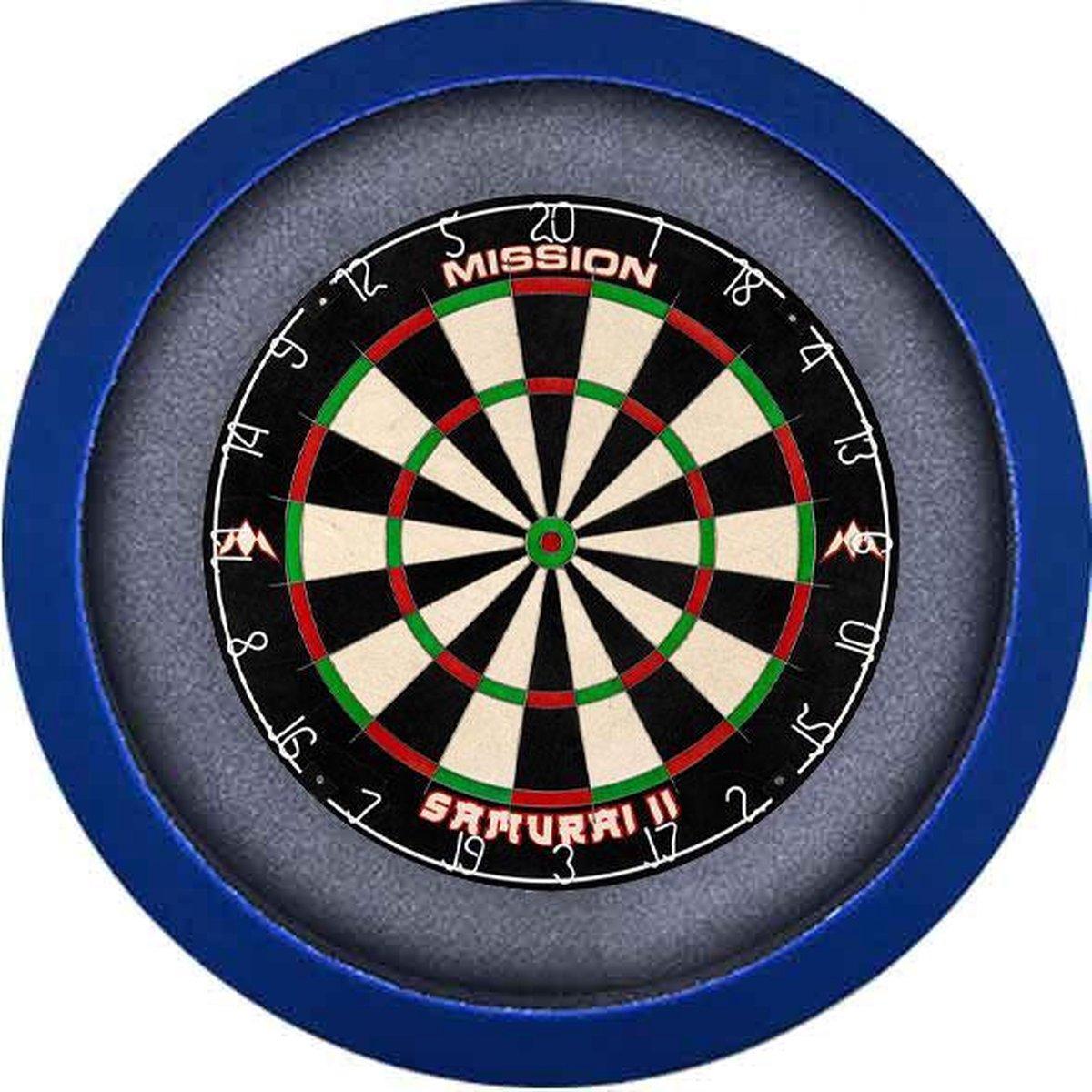 Dartbord Verlichting Voordeelpakket Pro + Mission Samurai 2 + Dartbordverlichting Basic XL(Blauw)