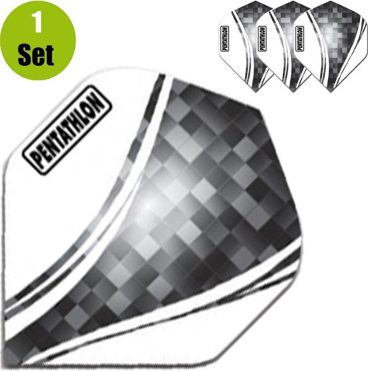 Pentathlon Vizion Swirl Dartflights - Zwart- ()