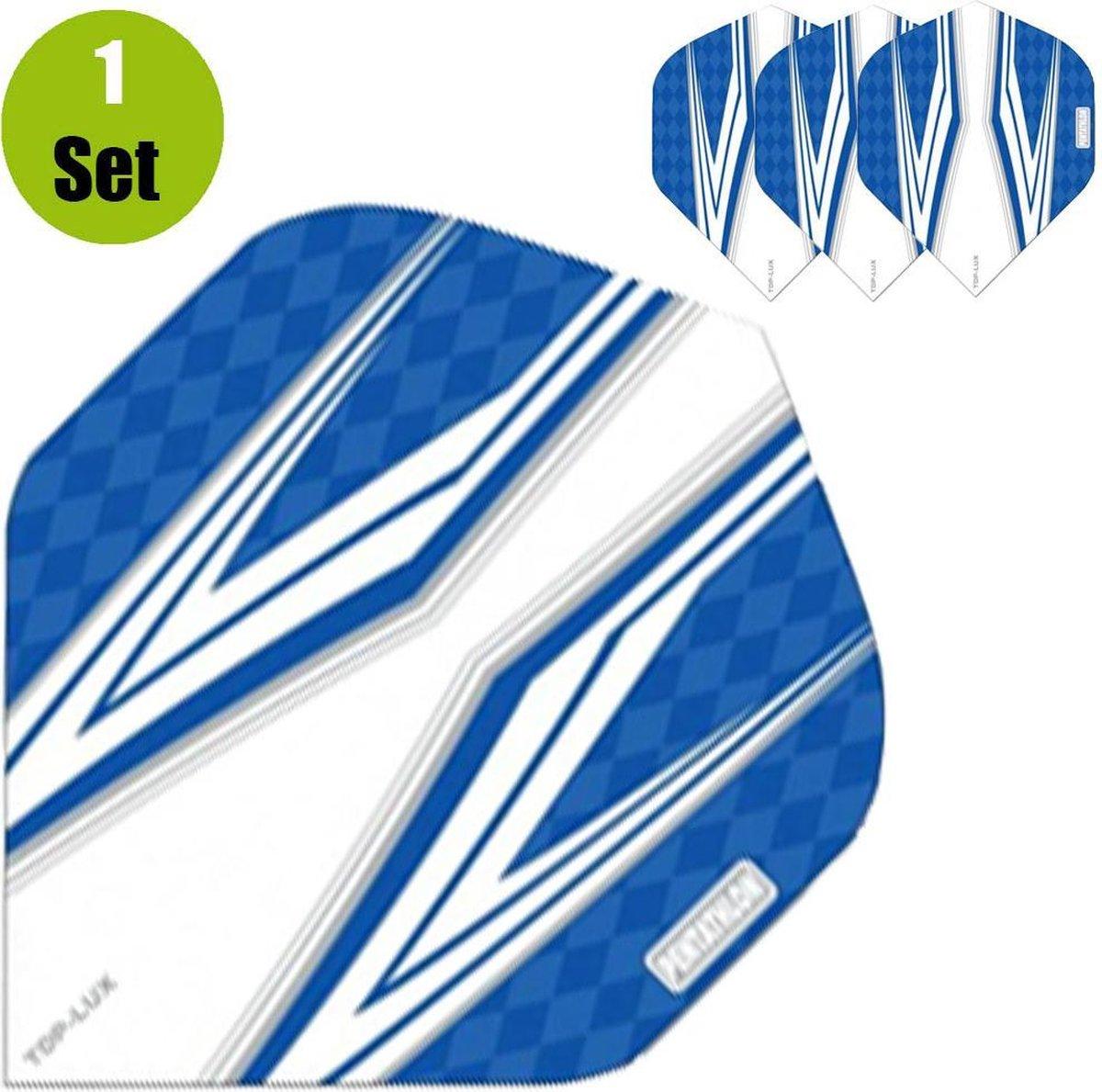 Pentathlon TDP Lux Vizion White Dartflights - Blauw- ()